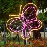 Lampe papillon blanc chaud / rose professionnel