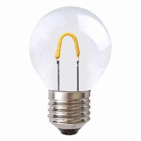 Ampoule led plastique Filament 1W E27 blanc chaud Guinguette incassable professionnel