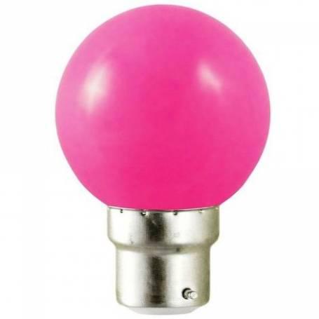 Ampoule B22 Rose LED pour guirlande guinguette qualité professionnelle professionnel
