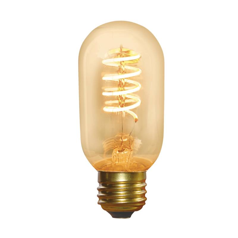 Ampoule vintage filament spirale cylindre ambrée 3W dimmable E27 2200k professionnel