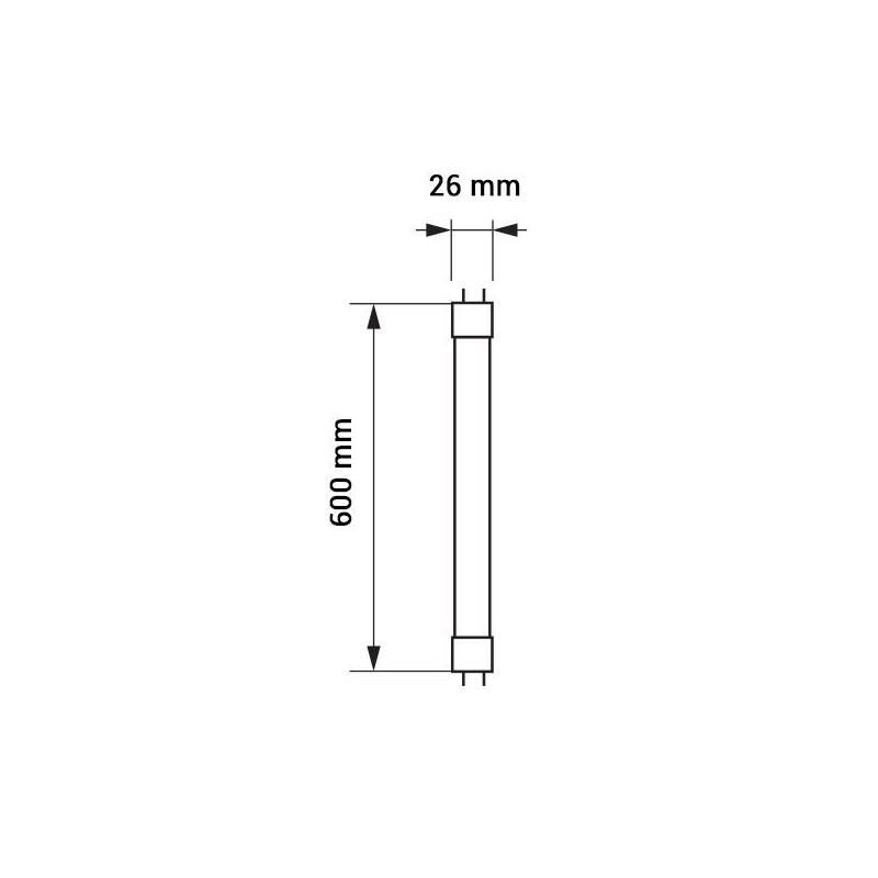 Tube neon led T8 60cm blanc froid 6000k 9W professionnel