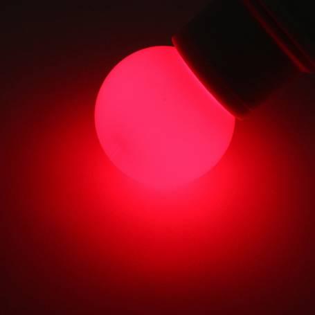 ampoule déco rouge à led e27 1w