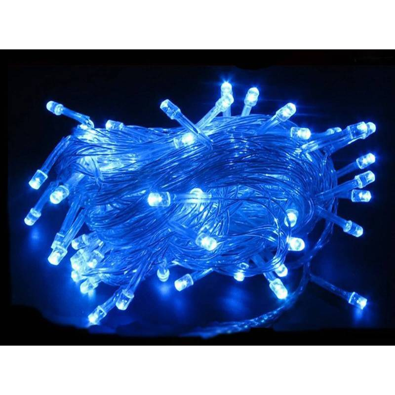 guirlande lumineuse led 8m bleue c ble transparent professionnelle. Black Bedroom Furniture Sets. Home Design Ideas
