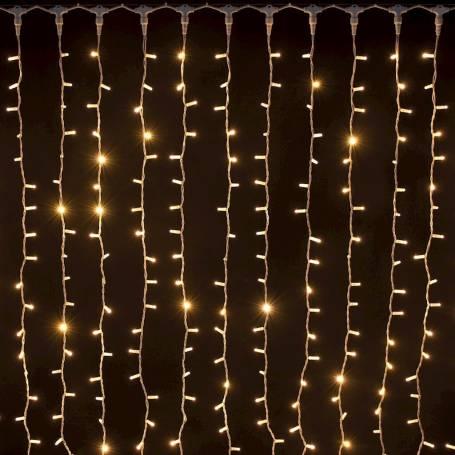 rideau led pro prolongeable blanc chaud