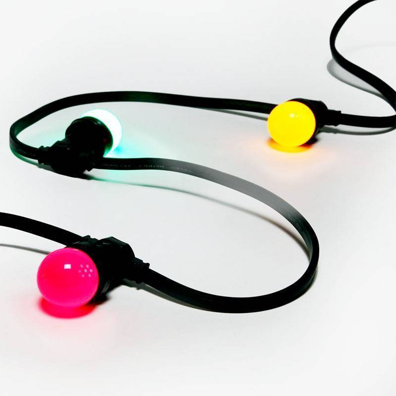 Guirlande 10 ampoules multicolores E27 10M extérieures professionnel