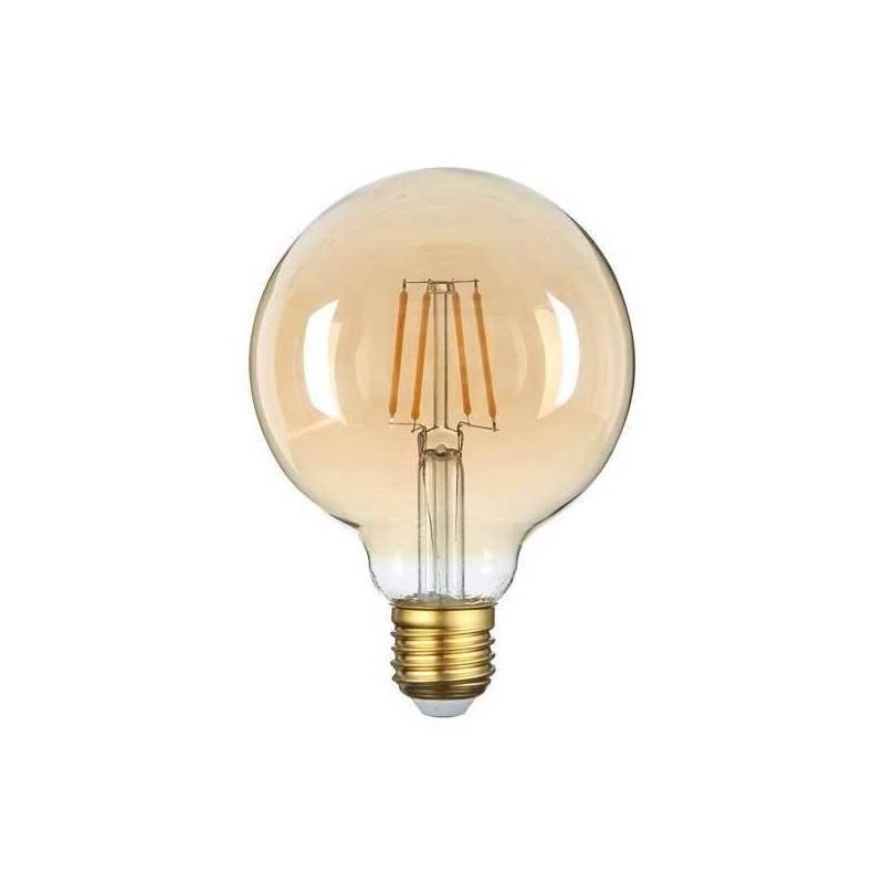 Guirlande guinguette vintage ampoule ronde 95mm blanc chaud verre dorée professionnel