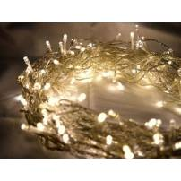 Guirlande lumineuse led 8 mètres blanc chaud câble Transparent
