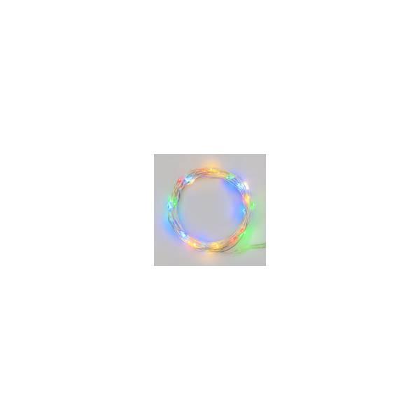 Guirlande lumineuse piles LED multicolore fêtes