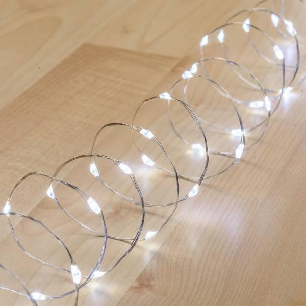 Guirlande lumineuse à piles 4 mètres blanc froid intérieur mariage