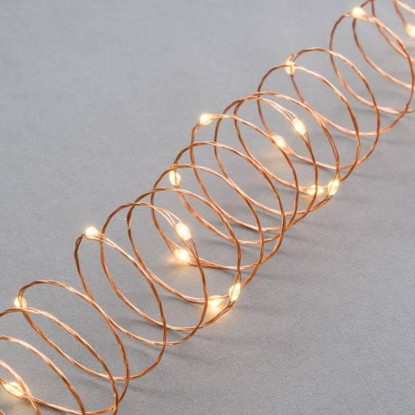 Guirlande à piles 20 mètres LED table décoration noël