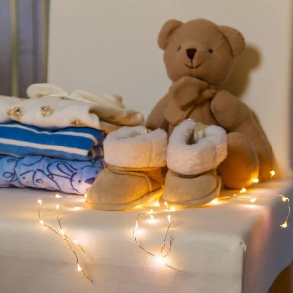 décoration intérieur cascade mèche lumineuse LED