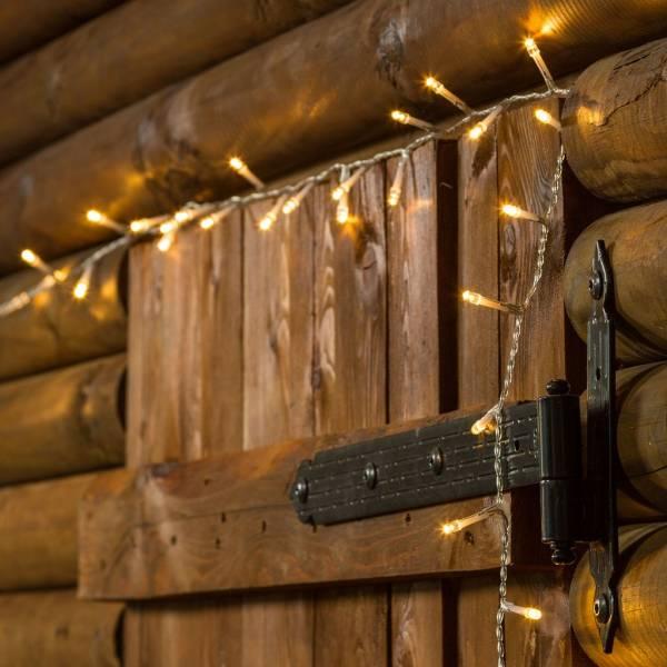 Guirlande à piles 5 mètres 96 led blanc chaud extérieur IP44 timer décoration de Noël mariage anniversaire