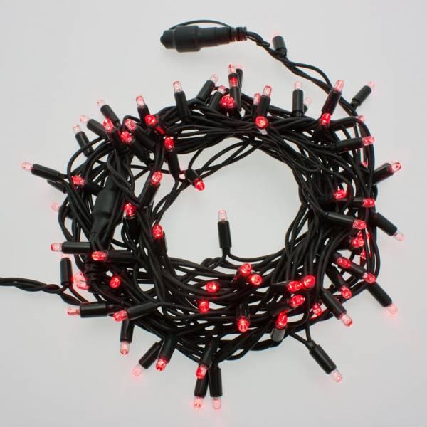 Guirlande lumineuse LED 10M rouge raccordable professionnelle ILLUPRO 230V