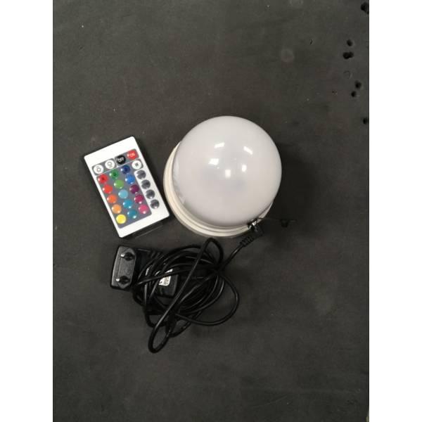 Base rechargeable LED RGB pour boule lumineuse avec télécommande professionnelle