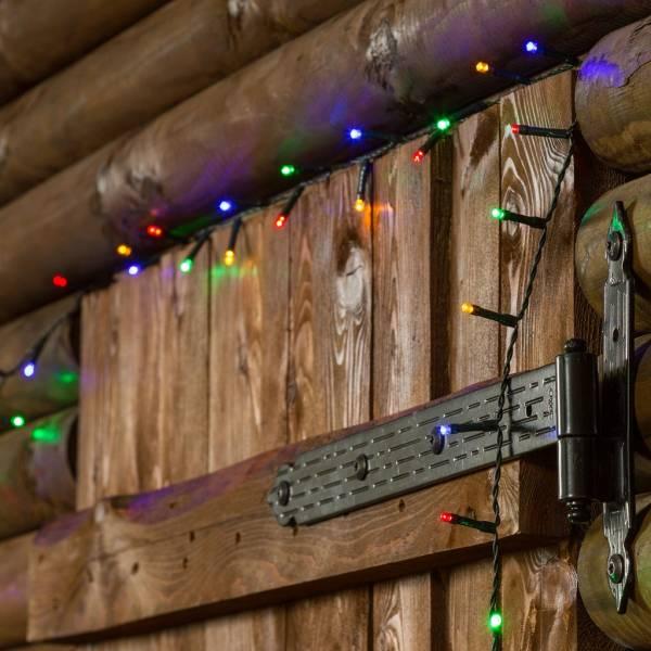 Guirlande lumineuse 10M 240 LED multicolore à piles intérieur extérieur illumination noël