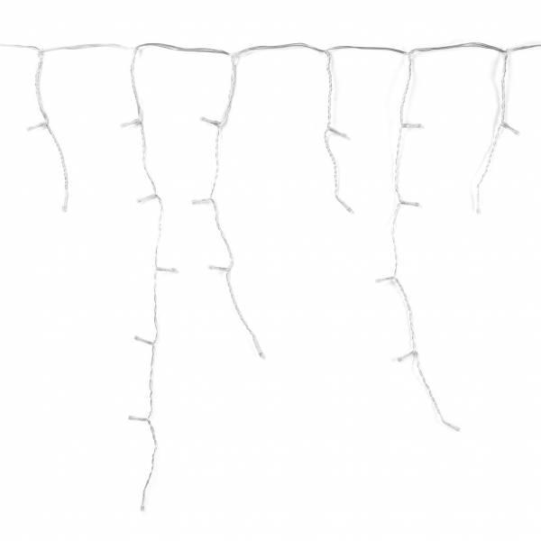 Guirlande stalactite connectée 5M Hauteur 60 cm Twinkly LED RGB multicolore extérieur câble blanc sous toit
