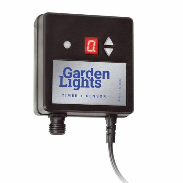 Interrupteur crépusculaire avec minuterie 12V IP44 extérieur Garden Pro