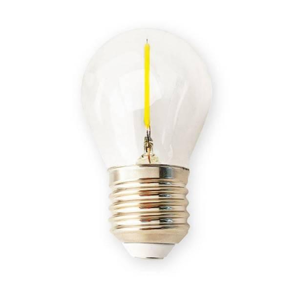 Ampoule Guinguette filament 1,3W transparente verre culot E27 blanc chaud