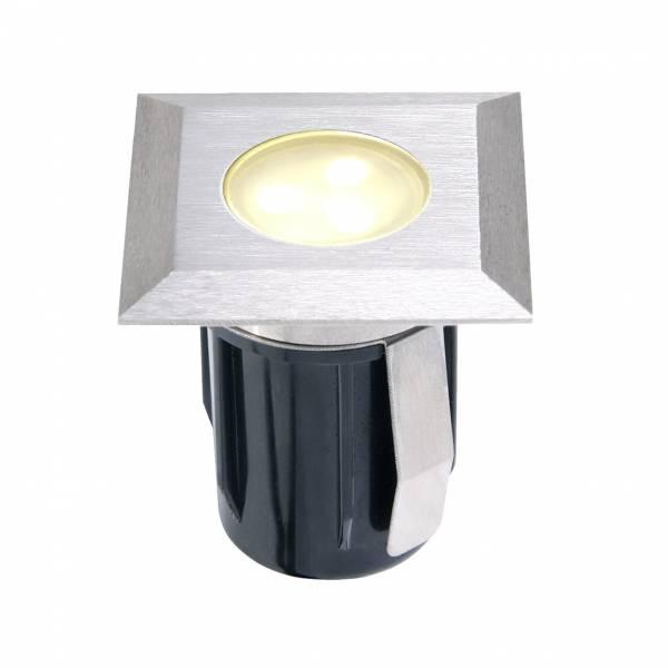 Spot encastrable carré LED 0,5W IP67 blanc chaud Inox 316 12V Garden Pro professionnel