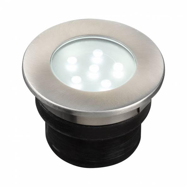 Spot de sol encastrable LED 1W IP67 rond blanc froid Inox 12V Garden Pro professionnel