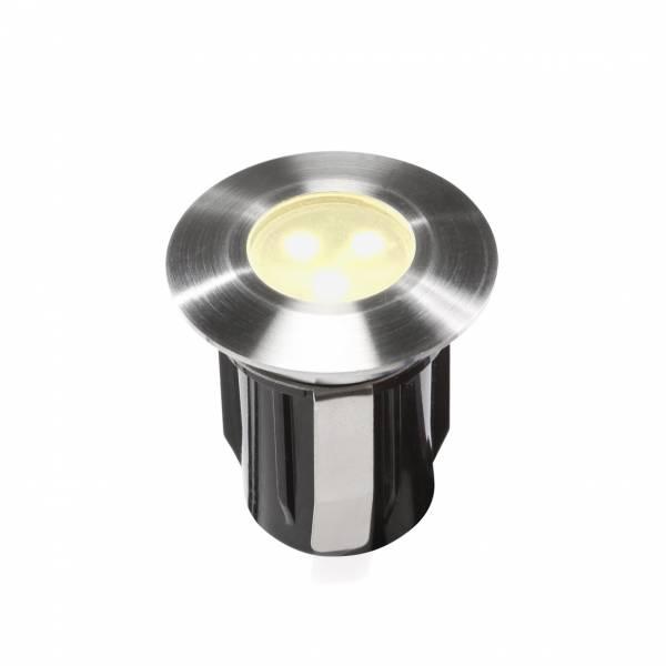 Spot extérieur encastrable LED 0,5W IP67 blanc chaud Inox 316 12V Garden Pro professionnel