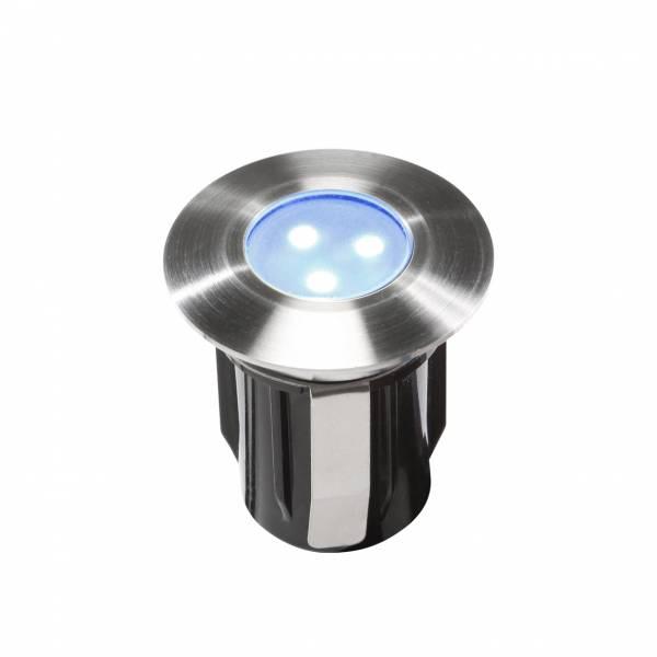 Spot extérieur encastrable LED 0.5W IP68 bleu Inox 316 12V Garden Pro professionnel