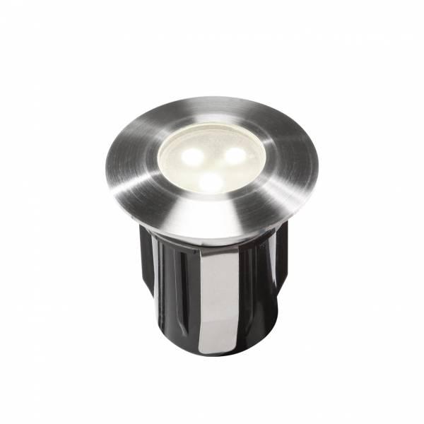 Spot encastrable LED 0.5W IP67 blanc Inox 316 12V Garden Pro professionnel
