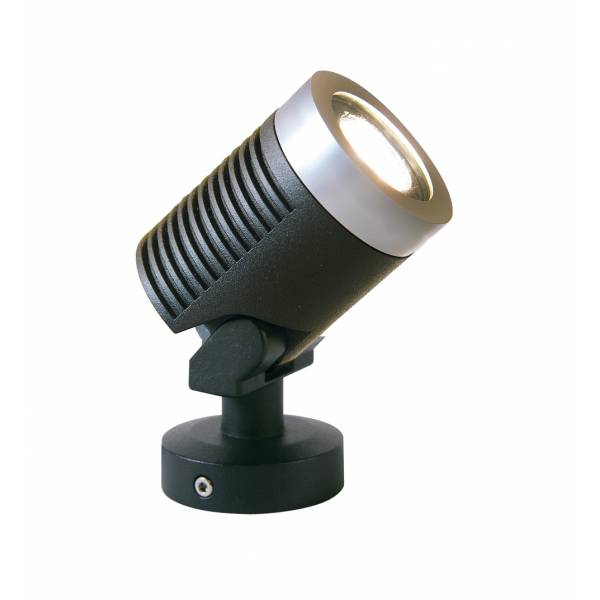 Spot sur pied LED extérieur noir alu 5w orientable blanc chaud 12V professionnel garden pro jardin terrasse plante arbre