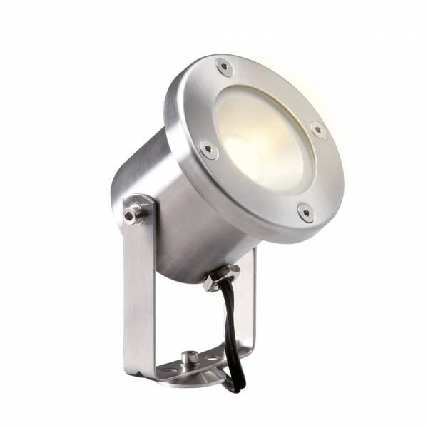 Spot sur pied LED extérieur inox 12V 3W blanc chaud garden pro professionnel lampe