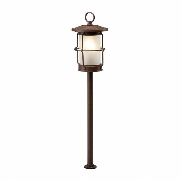 Borne lumineuse extérieur LED 1.5W blanc chaud 12V brun rouille IP44 Garden Pro professionnel lampe terrasse jardin luminaire