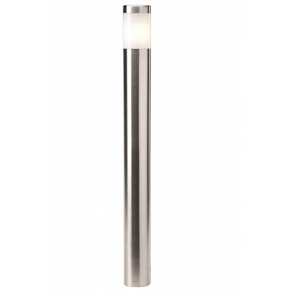 Borne lumineuse LED extérieur H61cm blanc chaud 2W inox 12V IP44 Garden Pro jardin lampadaire