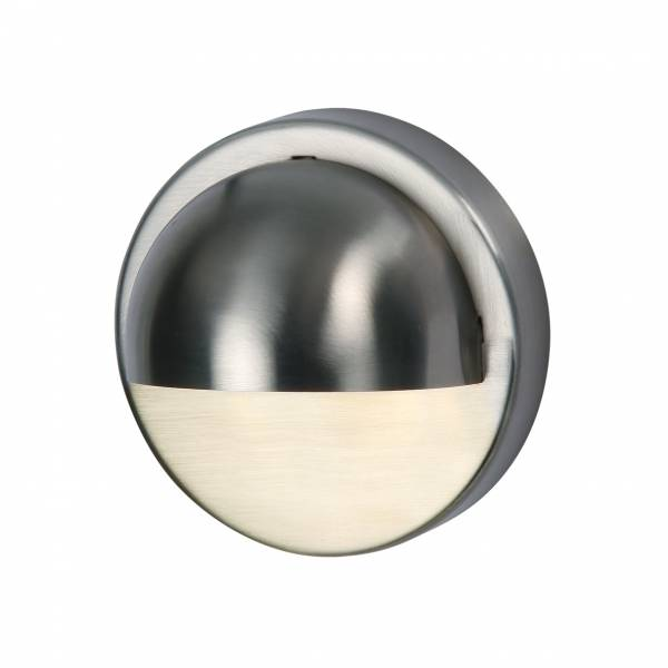 Applique murale LED extérieure 1W blanc chaud IP44 Inox 12V Garden Pro professionnel ronde