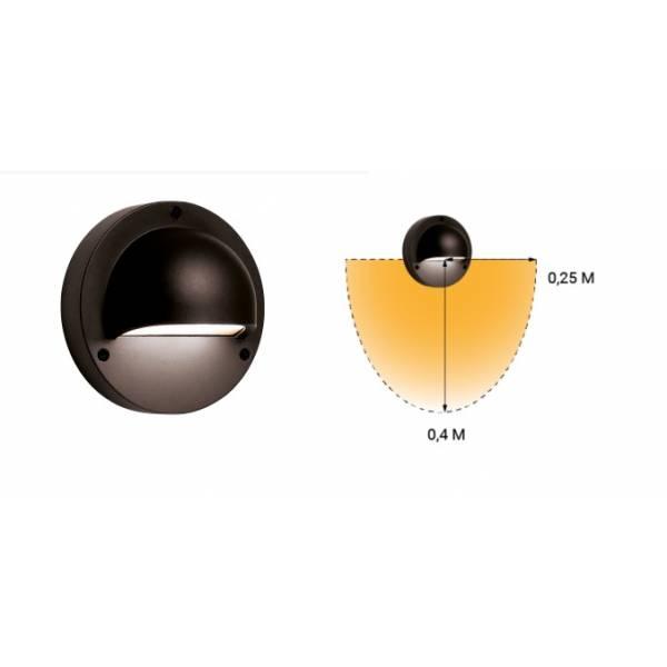 Applique murale LED extérieure noire 1W blanc chaud ou blanc froid IP44 Aluminium 12V Garden Pro éclairage angle lumineux
