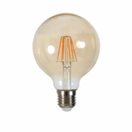 Ampoule led filament vintage ambree G95 e27 6 w blanc chaud