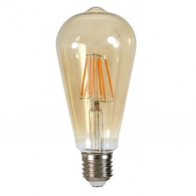 Ampoule led filament edison e27 6w equivalent a 60 w blanc chaud 2000 kelvin