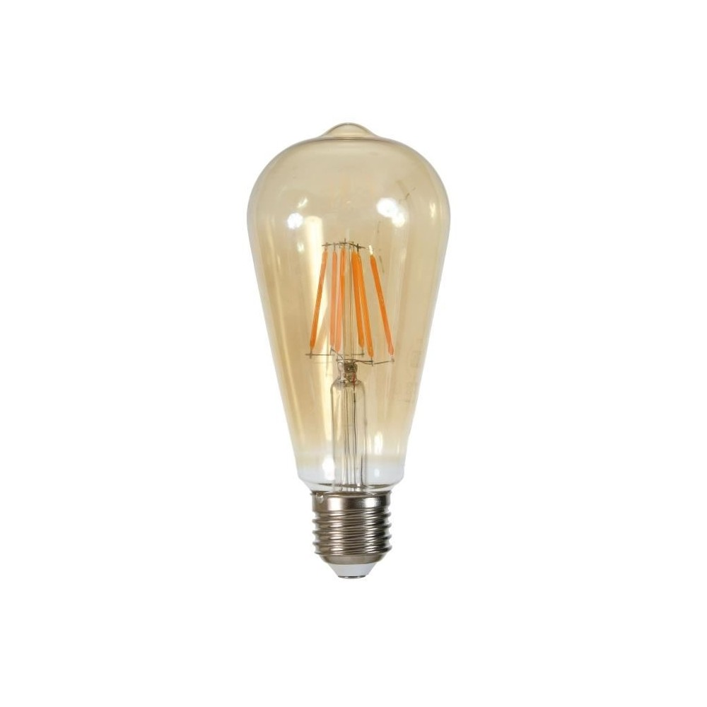 ampoule led filament edison e27 6w equivalent a 60 w blanc chaud 2000 kelvin. Black Bedroom Furniture Sets. Home Design Ideas