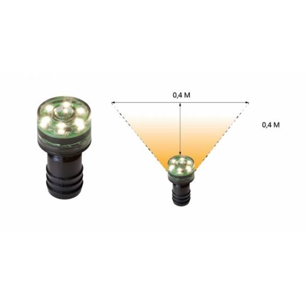 Mini spot encastrable LED 1W rond blanc chaud 12V extérieur IP68 Garden Pro angle éclairage terrasse bassin fontaine