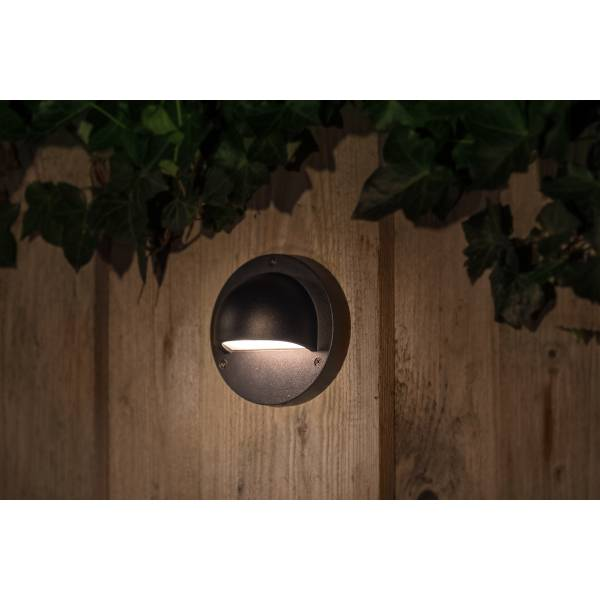 Applique murale LED extérieure noire 1W blanc chaud ou froid IP44 Alu 12V Garden Pro