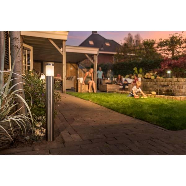 Borne lumineuse LED extérieur H61cm blanc chaud 2W inox 12V IP44 Garden Pro