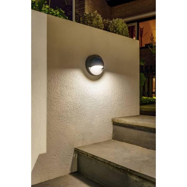 Applique murale LED extérieure noire 1W Garden Pro jardin terrasse luminaire plante allée porte d'entrée étanche