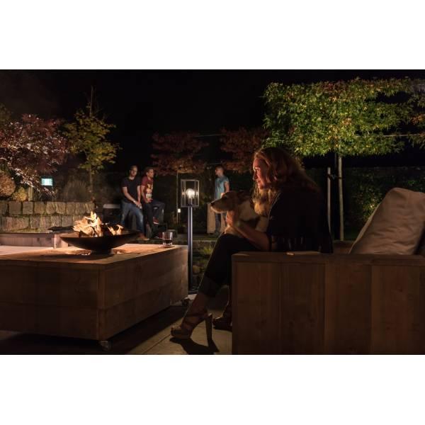 Borne lumineuse extérieur noir H40cm LED blanc chaud 3W 12V IP44 Garden Pro