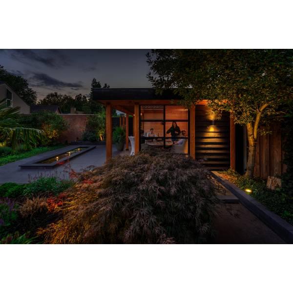 Spot sur pied extérieur noir LED blanc chaud 3W IP44 12 V Garden Pro