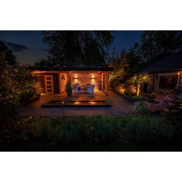 Spot de sol encastrable carré LED 0,5W IP67 bleu Inox 316 12V Garden Pro