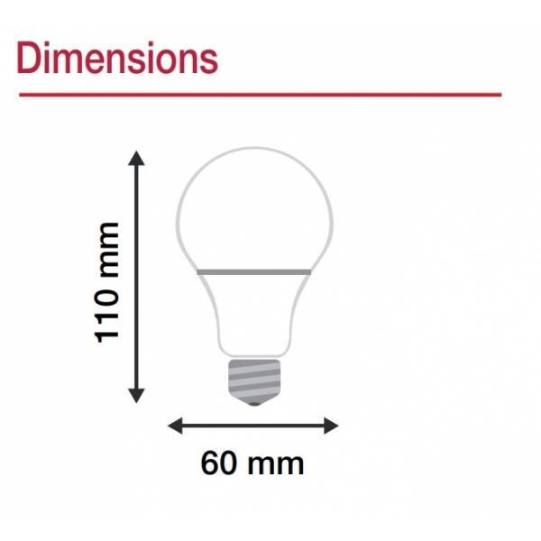 Ampoule LED connectée WIFI dimmable CCT 2700K-6500K E27 9W Vision Pro téléphone à distance intelligente