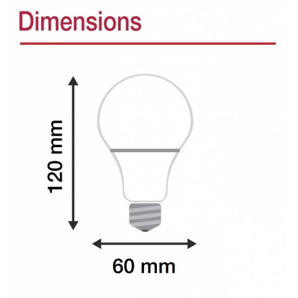 Ampoule LED connectée WIFI dimmable CCT 2700K-6500K E27 12W Vision Pro téléphone à distance intelligente
