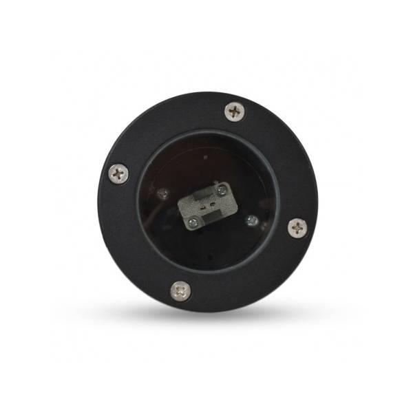 Spot piquet extérieur LED noir IP65 12V aluminium GU5.3 Visionpro éclairage jardin terrasse verre trempé