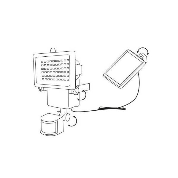 Projecteur solaire détecteur de mouvement 1000W lumens automatique professionnel LEBLANC CHROMEX