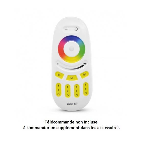 Projecteur led extérieur dimmable RGB et blanc CCT 50W noir IP65 230V télécommande