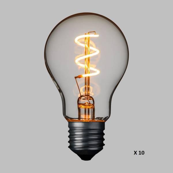 Guirlande Guinguette 36V basse tension 5M 10 ampoules LED E27 blanc chaud