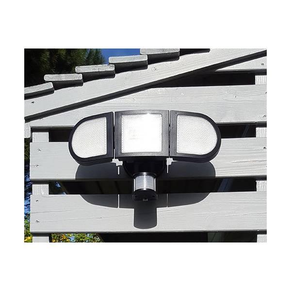 Projecteur solaire détecteur de mouvement triptyque puissant 1500Lm professionnel LEBLANC CHROMEX